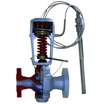Temperature control valve / for gas / flange / carbon steel
