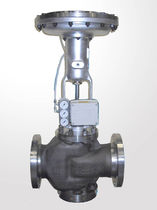 Diaphragm valve / pneumatically-operated / control / for gas