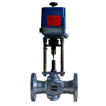 Electrically-operated valve / control / for gas / flange
