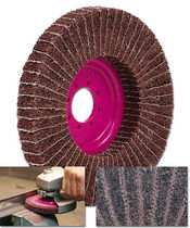 Polyester fiber abrasive disc / for deburring / non-woven