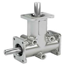 Bevel gear reducer / orthogonal / precision / stainless steel