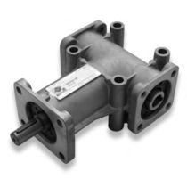 Bevel gear reducer / orthogonal / hollow-shaft / aluminum