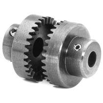 Rigid coupling / shafts / steel / misalignment correction