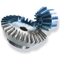 Bevel gear / straight-toothed / hub / machined