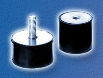 Cylindrical anti-vibration mount / rubber / metal