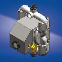 Double-diaphragm pump / paint / for adhesives / pneumatic