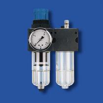 Compressed air filter-regulator-lubricator
