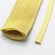 Braided sleeve / for cables / insulating / aramid fiber