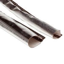 Cable sleeve / fiberglass / with Velcro® closure / aluminum-coated