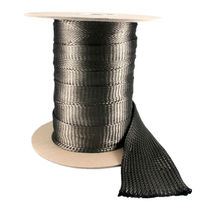 Braided sleeve / for hoses / thermal protection / carbon fiber