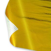 Gold heat barrier / heat shield / aluminized fiberglass fabric / laminated