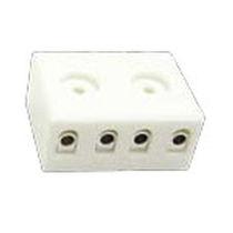 Screw connection terminal block / for temperature sensors / tripolar / compact