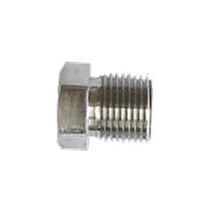 Hexagonal plug / threaded / stainless steel / fitting