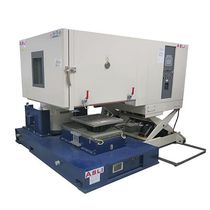 Vibration test chamber / with temperature and climatic control