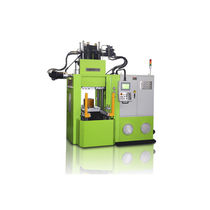 Vertical injection molding machine / hydraulic / for elastomers