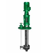 Chemical pump / with electric motor / centrifugal / semi-submersible