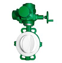 Butterfly valve / with handwheel / for chemicals / PTFE-lined
