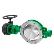 Butterfly valve / manual / for chemicals / flange