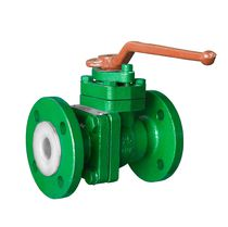 Ball valve / manual / regulating / for chemicals