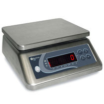 Counting scale / benchtop / with LED display / stainless steel