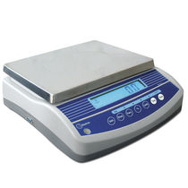 Counting scales / benchtop / with LCD display / stainless steel pan