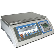Counting scale / benchtop / with LCD display / stainless steel pan