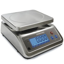 Benchtop scales / with LCD display / stainless steel / stainless steel pan