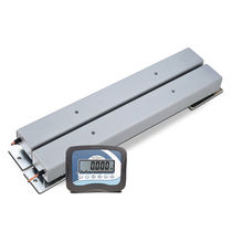 Weighing bar with LCD display / battery-powered / compact