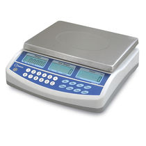 Counting scale / with LCD display / stainless steel pan / battery-powered