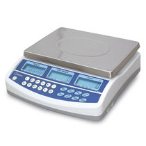 Counting scale / with LCD display / stainless steel pan / industrial