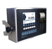 Weight indicator with LCD graphic display / benchtop / wall-mount / IP54