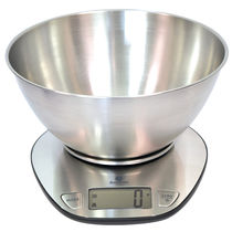Benchtop scale / with LCD display / stainless steel pan / battery-powered