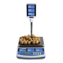 Benchtop scale / with LCD display / stainless steel / food