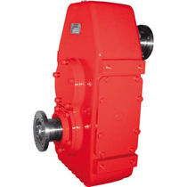 Helical gear reducer / parallel-shaft / high-power / shaft-mounted