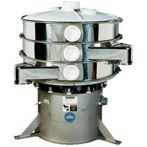 Circular vibrating screener / for bulk materials / for the food industry
