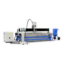 Abrasive water-jet cutting machine / metal / plastic / wood