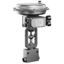 Globe valve / pneumatically-operated / regulating / for low flow rates