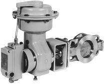 Pneumatic valve actuator / rotary / membrane / single-acting