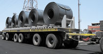 6-axle trailer / for industrial materials / flatbed