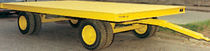 2-axle trailer / for industrial materials / flatbed