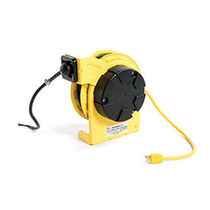 Audio cable reel / self-retracting / fixed / with mounting bracket
