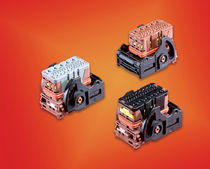 Hybrid connector / DIN / rectangular / high-density