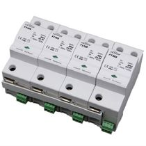 Type 1 lightning arrester / AC / three-phase / DIN rail