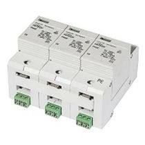 Type 2 surge arrester / three-phase / AC / DIN rail