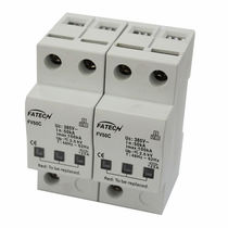 Type 2 surge arrester / single-phase / AC / DIN rail