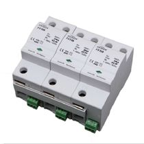 Type 1 surge arrester / three-phase / DIN rail / low-voltage