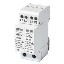 Type 2 surge arrester / AC / three-phase / with fault indication