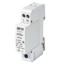 Type 2 surge arrester / with fault indication / varistor / N-PE