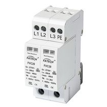 Type 2 surge arrester / with fault indication / DIN rail / low-voltage