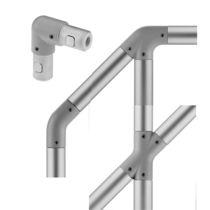 Caged ladder handrail / aluminum